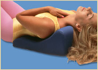 Soothe-A-Ciser Pillow- Blue- 21x11x7- Neck Pain Relief is on the Way