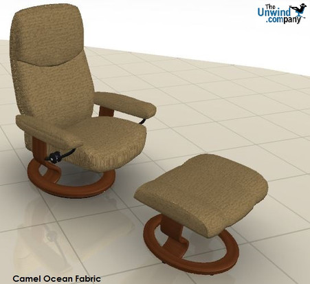 Fabric Upholstery- Save big bucks on a Stressless Consul at the lowest price.