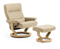 Enjoy the lowest prices on Stressless Recliners allowed by Ekornes like this Pacific Recliner and Ottoman.