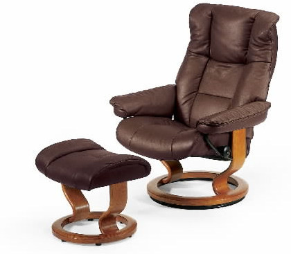 Stressless Mayfair Classic Medium Recliner with Ottoman