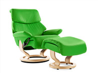 New Paloma Leather color: Summer Green. Shown on this Large Dream (Spirit) Recliner.