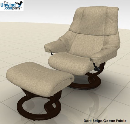 A Dark stained wood provides a beautiful contrast on this Fabric Reno Recliner by Stressless. & Ekornes Stressless Reno Recliners u0026 Chairs | Stress-free Delivery islam-shia.org