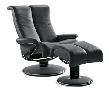 Stressless sessel jazz  Stressless Blues Recliner-Medium with Ottoman | Nationwide Inside ...
