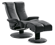 Stressless Blues Recliner-Large Size-  Amazingly Modern Back Support and Style!