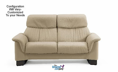 ekornes stressless paradise medium high back sofa 2 seat no arms. Black Bedroom Furniture Sets. Home Design Ideas