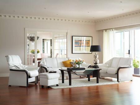 Snow White Batick Leather shown on this Eldorado Room Set.