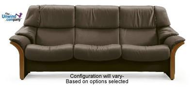 Ekornes Stressless Eldorado High-Back 3 Seat Sofa- Ships Worry-Free