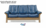 Stressless Windsor 3 Seat Low Back Sofa.