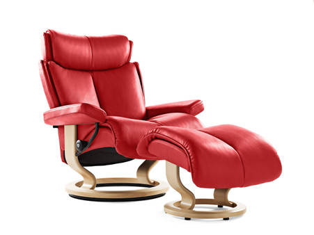 New 2015 Sparkling Tomato Paloma Leather with Natural Wood.