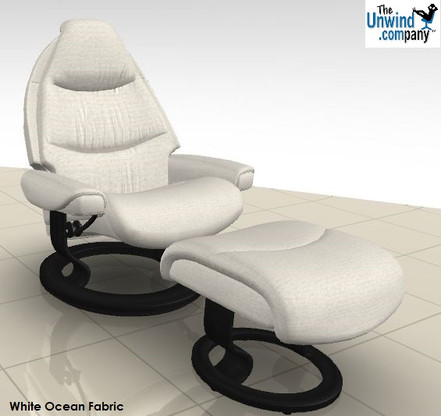 Ekornes Stressless Voyager Large Recliner with Ottoman.