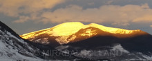 SUNRISE ALPENGLOW  48X20
