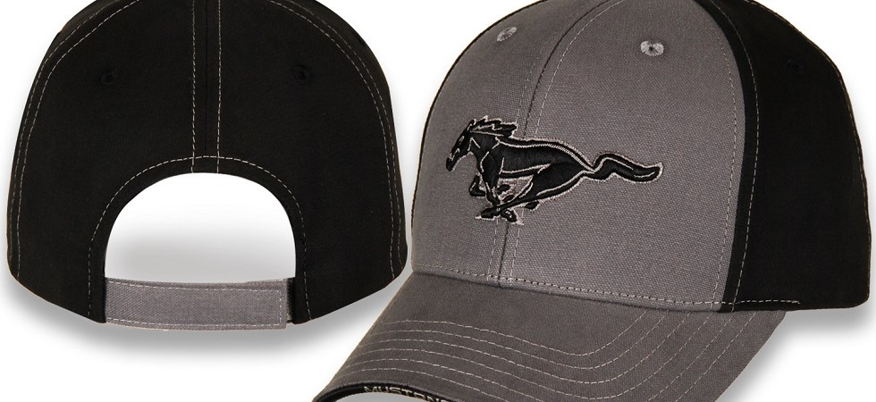 New Mustang Gray & Black Hat