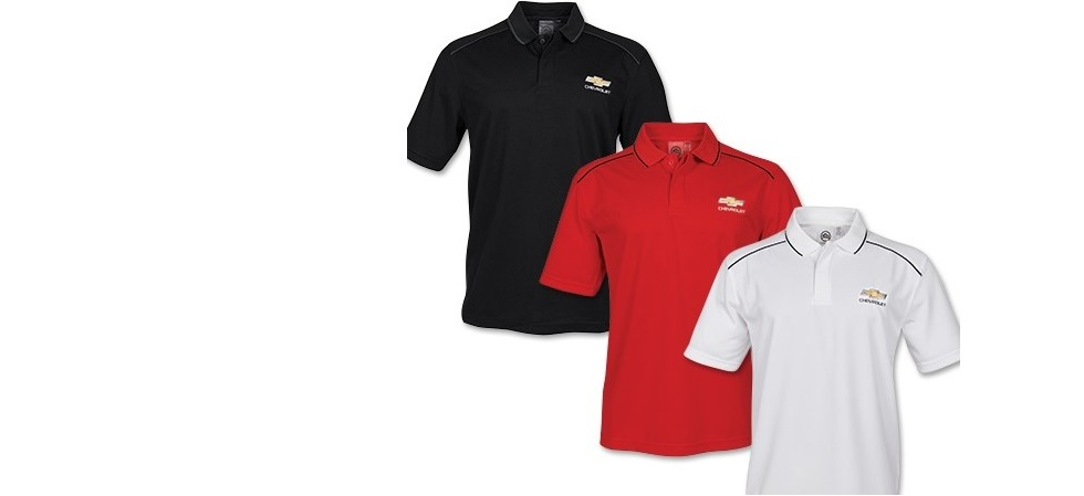 Chevy Polo Shirts - Black, Red or White