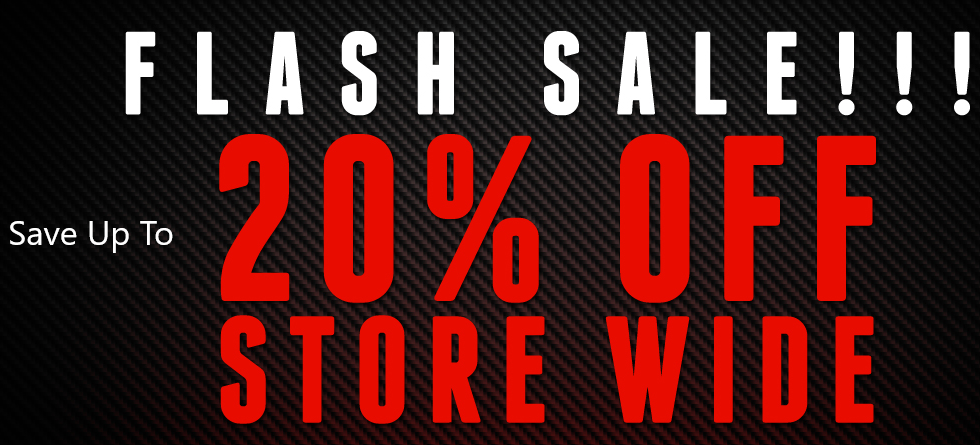 Flash Sale - Save Up to 20% Storewide