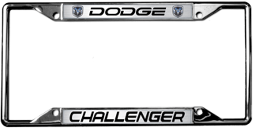 Dodge Challenger Chrome Metal License Plate Frame | Auto Gear Direct