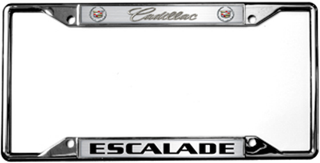 Cadillac Escalade License Frame
