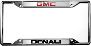 GMC Denali License Frame