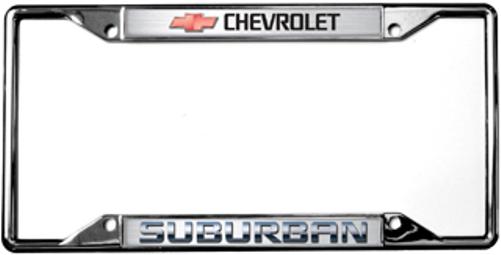 Chevrolet Suburban License Plate Frame   Auto Gear Direct
