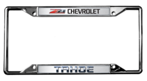 Chevrolet Tahoe Z71 License Plate Frame | Auto Gear Direct