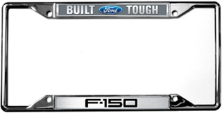Built Ford Tough F 150 License Frame Auto Gear Direct