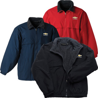 Chevy Bowtie Fleece jacket in Black, Navy or Red