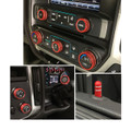 Sierra/Silverado Interior Knob Kit - Victory Red inside