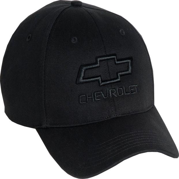 Chevy Bowtie Tonal Black Cotton Hat
