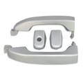Silverado/Sierra Silver Ice Door Handles front