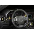 Camaro Billet Interior Knob Kit - Bright Yellow inside