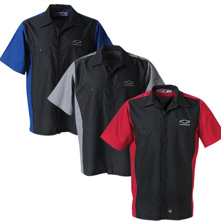 Chevy Bowtie Contrasting Work Shirts (3 colors)