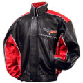 C6 Corvette Red & Black Lambskin Jacket