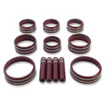 Sierra/Silverado Interior Knob Kit - Siren Red/Crimson Red