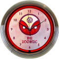 VW Be Iconic Neon Clock