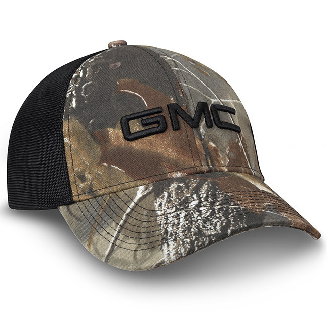 4804a891305 GMC Realtree Hardwoods Camo Black Mesh Hat