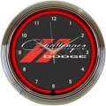 Dodge Challenger Neon Clock