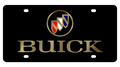 Buick Black Acrylic License Plate - Gold Letters