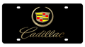 Cadillac Crest w/ Gold Script Black Acrylic Plate