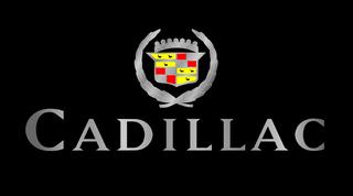 Retro Cadillac Crest Black Acrylic Plate