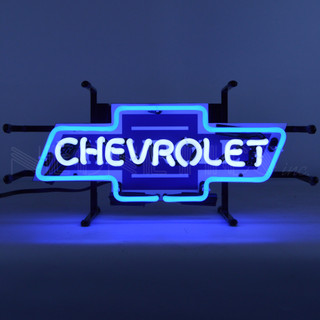 Small Vintage Chevy Bowtie Neon Sign
