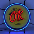 Small OK Used Cars Neon Sign