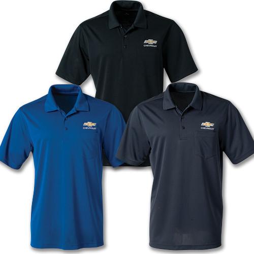 Chevrolet Gold Bowtie Dri Zone Pocket Polo Shirt