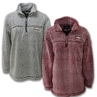 Womens Chevrolet Gold Bowtie Sherpa Pullover Jacket