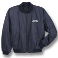 Chevrolet Bowtie Navy Blue Aviator Jacket