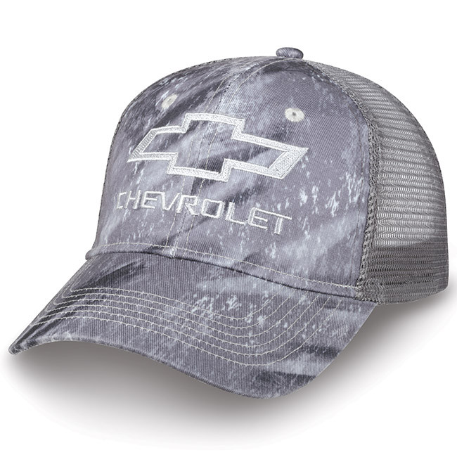official photos 689ab 6437b Chevrolet Realtree Fishing Gray Camo Mesh Hat   Auto Gear Direct