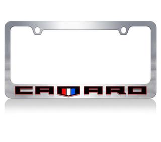 Camaro Redline w/ Shield Chrome License Plate Frame