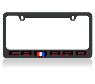 Camaro Redline w/ Shield Black License Plate Frame