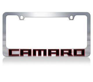 Camaro Redline Chrome License Plate Frame