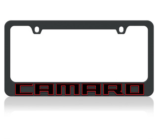 Camaro Redline Black License Plate Frame