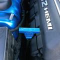 Dodge Challenger/Charger Billet Dip Stick Handle Cover (on car)