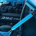 Dodge Charger Billet Hood Shock Covers (on car)